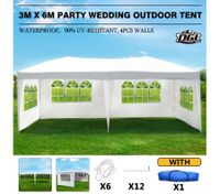 OGL 3M x 6M Party Wedding Outdoor Tent Canopy Gazebo Pavilion Events Canopies w/4 Removable Walls