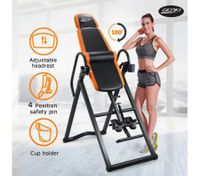 Adjustable Inversion Table Foldable Gravity Back Stretcher Inverter w/PVC Mat & Heavy - Duty Steel Frame