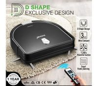 Maxkon Robot Vacuum Cleaner 1.2Kpa Remote-Control Self-Charged Sweeper - Black