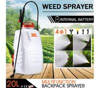 20L Weed Garden Backpack Sprayer w/4 Nozzle Pump Tank Hose Lance Belt