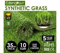 10 SQM 35mm Artificial Grass Synthetic Turf Fake Lawn Flooring