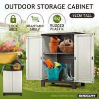 Shogun 92cm Lockable Outdoor Storage Cabinet Cupboard Garage Carport Shed