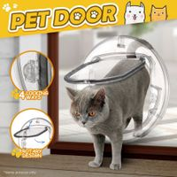 4 Way Locking Dog Cat Pet Brushy Flap Door