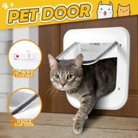 Locking Dog Cat Pet Secure Brushy Flap Door