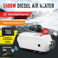 12V 5KW Diesel Air Heater for Car Truck Boat w/Timer LCD Remote Control - White