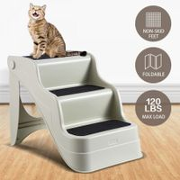 Petscene Folding Dog Cat Steps Pet Stairs Ramp Puppy Doggy Ladder