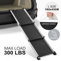 Petscene Deluxe Telescoping Aluminum Dog Car Ramp Portable Pet Ladder for Truck Van SUVs