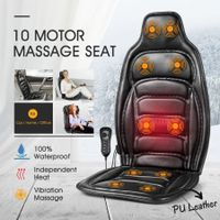 10 Motor Vibration Massage Cushion Chair Pad w/heat for Home Office Car