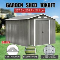 Garden Farm Storage Shed 2.43x2.43m Outdoor Yard Workshop Tool Shelter