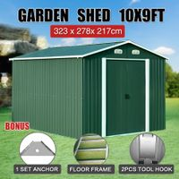 Garden Farm Storage Shed 3.04x2.74m Outdoor Yard Workshop Tool Shelter