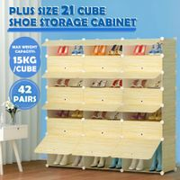 DIY 21 Cube Shoe Storage Rack 42 Pairs Shoes Cabinet Cupboard Organiser Shelf