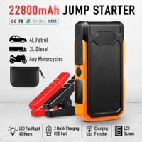 500A Peak 22800mAh Portable Jump Starter Battery Charger for Cars Phones