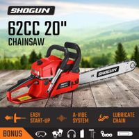 "SHOGUN 62cc Petrol Commercial Chainsaw 2-Stroke 20"" Bar Pruning Chain Saw"