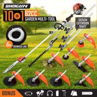 10 in 1 Garden Multi Tool Pole Chainsaw Grass Trimmer Hedger Brush Cutter Whipper Snipper
