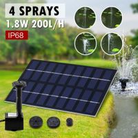 1.8W Outdoor Solar Power Water Fountain Pond Pool Pump Kit