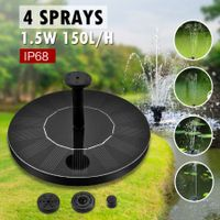2 in 1 Floating Solar Fountain Pond Pool Water Pump Kit
