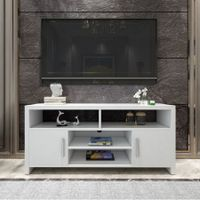 Modern TV Stand Cabinet Entertainment Unit Wooden Storage Shelf - White
