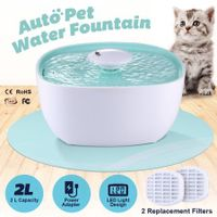 2L Automatic Dog Drinking Fountain Dispenser Pet Cat Water Feeder Bowl w/LED Light