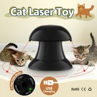 Automatic Dart Cat Laser Toy Interactive Pointer Light Pet Training Teaser Chase Toy - Black