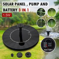 3 in 1 Floating Solar Fountain Pool Water Pump Kit w/Battery