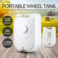 24L Water Tank Outdoor Portable Caravan Camping Motorhome Water Storage Container