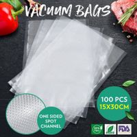 100PCS Vacuum Sealer Bags Embossed Pre-cut Food Saver Bags BPA Free 15x30CM