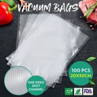 100PCS Vacuum Sealer Bags Embossed Pre-cut Food Saver Bags BPA Free 20x30CM