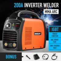 New MMA 200Amp Invert Welder ARC DC IGBT Welding Machine Portable Tool