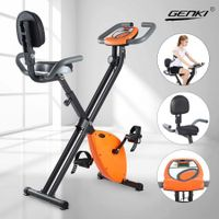 Genki 8 Level Magnetic Resistance Exercise Bike Home Gym Equipment w/Backrest