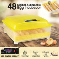 48 Egg Incubator Fully Automatic Turning Chicken Duck Poultry Egg Turner Hatcher