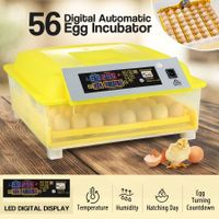 56 Egg Incubator Fully Automatic Turning Chicken Duck Poultry Egg Turner Hatcher