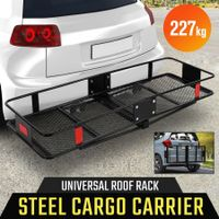 500LBS Heavy Duty Cargo Carrier Mounted Luggage Storage Basket Foldable Car Rack
