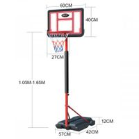 Genki 1.05-1.65m Kid Portable Basketball Hoop Stand Backboard Net Ring Ball Set
