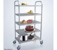 Five-Tier Stainless Steel Kitchen Trolley
