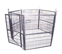 Portable Six Panel Foldable Metal Pet Exercise Playpen for Dogs / Cats / Rabbits / Guinea Pigs / Ferrets - XY-10162-2