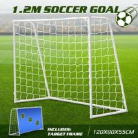 120CM Metal Soccer Goal Portable Football Net Frame Backyard Park Training Set
