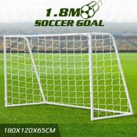 180CM Metal Soccer Goal Portable Football Net Frame Backyard Park Training Set
