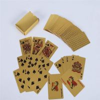 Waterproof Gold Foil Playing Card Advertising Poker Handicraft