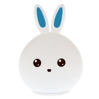LED Lovely Rabbit Colorful Silicone Portable Night Light