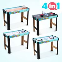 4-in-1 Games Table Hockey Curling Bowling Table Tennis Children Kids Toy Gift