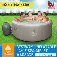 Bestway Lay Z Spa Inflatable Spa Bubble Jet 2-4 Person Portable Outdoor Hot Tub