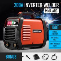 SHOGUN MMA 200Amp Welder ARC Welding Machine DC IGBT Inverter with LCD Display