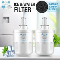 Aqua Optio Replacement Refrigerator Water Filter for DA29-00003B, RF268ABRS Water Filter, DA2900003G Replacement, 2-Pack