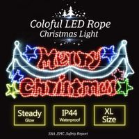 LED Merry Christmas Rope Lights - Colorful