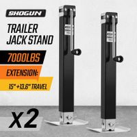 2X Heavy Duty Trailer Jack Stand 3175KG Load Each 135CM Total Height Direct-Weld