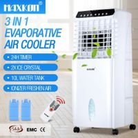10L Evaporative Air Cooler Fan Ionizer/Humidifier Remote Control Conditioner