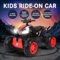 New 12V Kids ATV Motorized Car Electric Ride-On Toy 4 Motors 2 Speed W/Battery Indicator