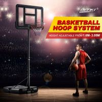 New 1.6-3.05m Portable Basketball Hoop Stand Backboard Net Ring Set Junior Adult
