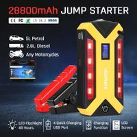 New 700AMP 28800mAh Portable Jump Starter Car Jumper 12V Booster Battery Charger