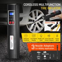 New Cordless Tyre Inflator Car Air Compressor Electric Tyre Pump W/ Digital LCD 6V